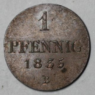 UNC Copper Pfennig William IV King of Great Britain 3 yr Type