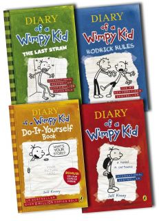 Diary of A Wimpy Kid Collection 4 Books Set Jeff Kinney