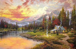 24x36 S/N Framed Limited Edition Thomas Kinkade Canvas Paintings