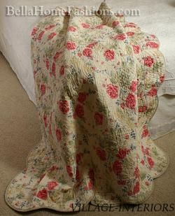 Shabby Roses Chic Kimberly Oversize Queen Quilt Set