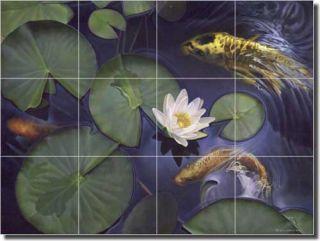 Fish Art Kitchen Ceramic Tile Mural Backsplash 24x18 LMA028