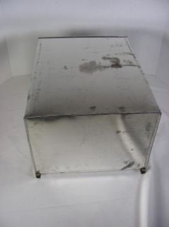 Vintage Metal Tin Kitchen Cabinet Drawer Bread Box Hoosier Type