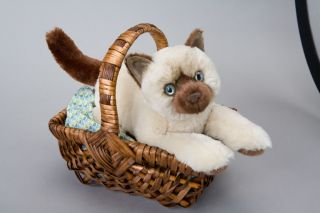 Toys 14 Tsering Sealpoint Himalayan Cat Kitten Stuffed Animal