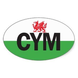 o Oval Wales Car Sticker