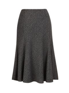 CC Black/grey textured ponte skirt Grey
