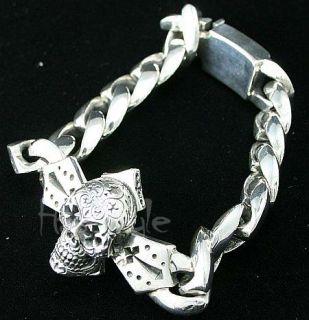 King Baby Studio Day of The Dead Skull Cross Bracelet