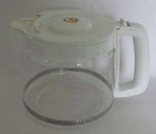 White Kitchen Aid 12 Cup Replacement Coffee Pot Maker Carafe