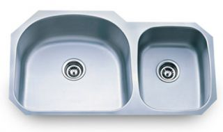 Stainless Steel Double D Shape 70 30 Undermount Kitchen Sink