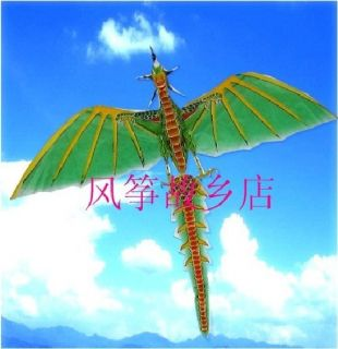 New 3D Handmade Jurassic Flying Dragon Dinosaur Green Kite