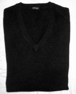 KITON Napoli Sweater Black 100 Cashmere Size 38 R 48 Euro Size New