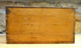 SHAKER WOOD BOX w/DRAWER signed WILLIAM L. SULLIVAN,KITTERY ME early