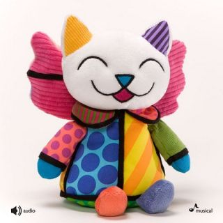 Romero Britto Angel Kitty Cat Joy to World Musical 10 in Christmas