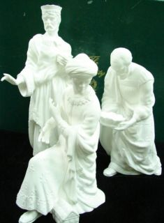 Lenox The Nativity The Three Kings White Bisque Porcelain w/ Original