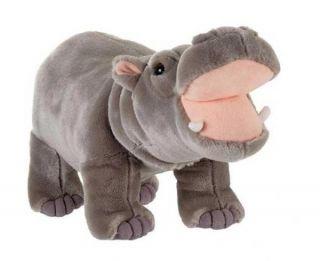 Fiesta Toys Plush 14 Standing Gray Hippo New