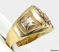 4th Degree Knights Columbus 10K Gold Skull Symbol Ring