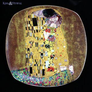 Gilded The Kiss Cake Dessert Plates Set of 6 Gustav Klimt Art
