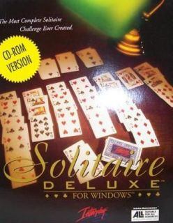 Deluxe PC CD classic card game collection Golf Klondike Pyramid more