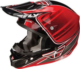 Fly Kinetic Pro Series Snowmobile Off Road Helmet Red Black Large
