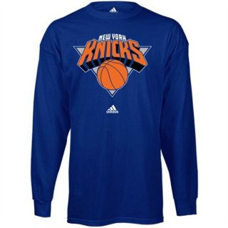 New York Knicks Adidas Primary Logo L s T Shirt Youth L