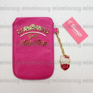 Pink Hello Kitty for iPhone Mobile Cell Phone Case Pouch Bag Holder