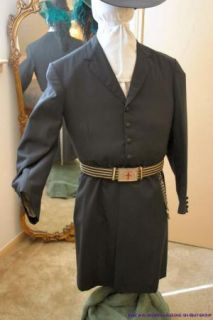 Knights Templar Long Black Trench Coat, Civil War Style Officers