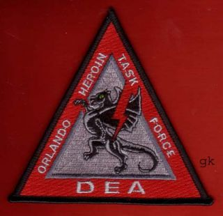Orlando Florida Dea Drug Task Force Patch