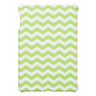 Lime Green Chevron Stripes iPad Mini Cases