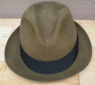 Vintage Knox New York Felt Mens Feather Fedora Hat 7 1 8 Twenty Two