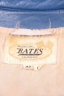 Vtg Bates 60s Steerhide Striped Cafe Racer Leather Motorcycle Racing