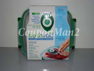 New 3 4 Cup Freshvac Plus Vacuum Food Storage FoodSaver