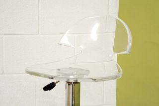 Modern Clear Acrylic Kitchen Bar Counter Stool