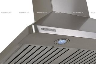 30 European Wall Mount Stainless Steel Range Hood with Baffle Filter