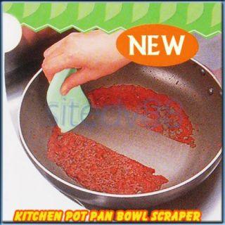 Green Leaf Sharpe Pot Pan Bowl Cleaning Scraper Kitchen