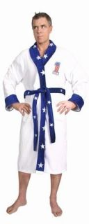 New Evel Knievel Mens Bathrobe Adult Daredevil Spa Stunt Motrcycle