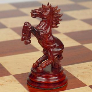 Kohinoor Staunton Chess Set in Red Sandalwood Boxwood 5 King