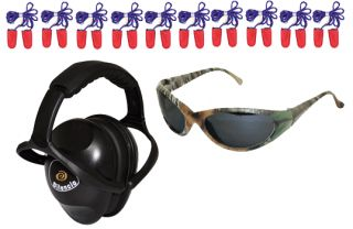 Safety Shooters 12 Piece Eye & Ear Protection Set, W/ Muffs, Glasses