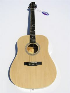 New Kona Pro Quality Natural Finish Full Size 6 String Acoustic Guitar