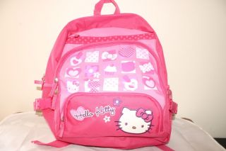 New Sanrio Hello Kitty Pink School Backpack Purse Bag