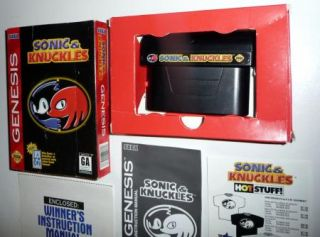 Sonic Knuckles Sega Genesis 1994 Complete with Original Box Manual