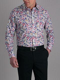 Alexandre Savile Row Fuschia Slim Fit Formal Shirt White