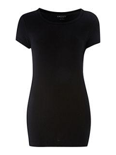 DKNY Cap sleeve t shirt Black