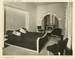 1946 French Art Moderne Deco Interior Design Ensembles Mobiliers Folio