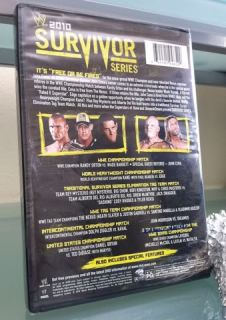 WWE Survivor Series 2010 DVD Factory SEALED Orton Barrett Nexus Dolph