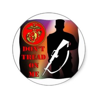 Eagle Globe Sniper Don't Tread On Me Sticker
