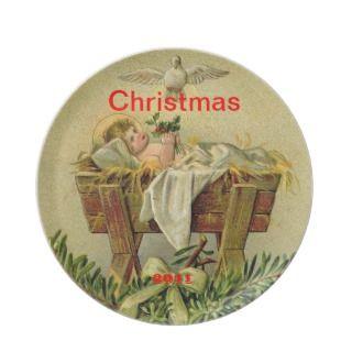 Baby Jesus Christmas Plate