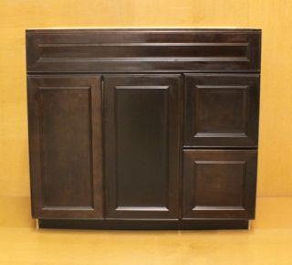 Kraftmaid Cherry Bathroom Vanity Sink Base Cabinet 36 Granite Tops in