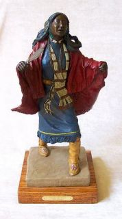Tom Knapp Signed Painted Cast Bronze Sculpture Listed