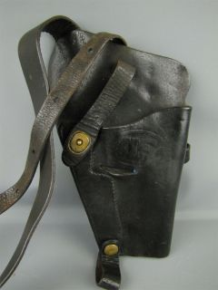 WWII Era U s Black Leather Gun Holster Enger Kress