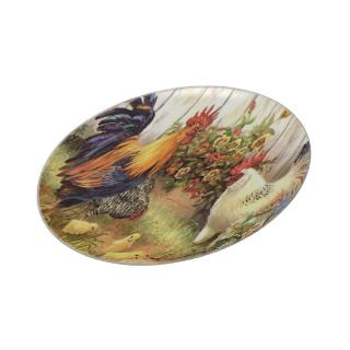 French Country Rooster Hen Wall Plate