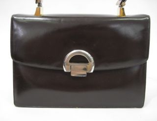 Vintage Koret Brown Leather Handbag